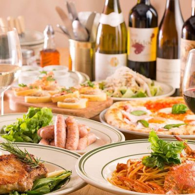 大崎のイタリアン【グリルハーベスター】本格石窯ピザや肉盛り料理が堪能できる新年会。